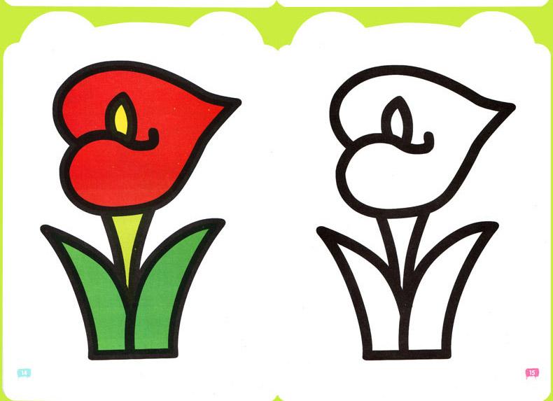 宝宝涂色书0-3岁幼儿童学画画本填色涂鸦画册绘画启蒙早教图书籍儿童
