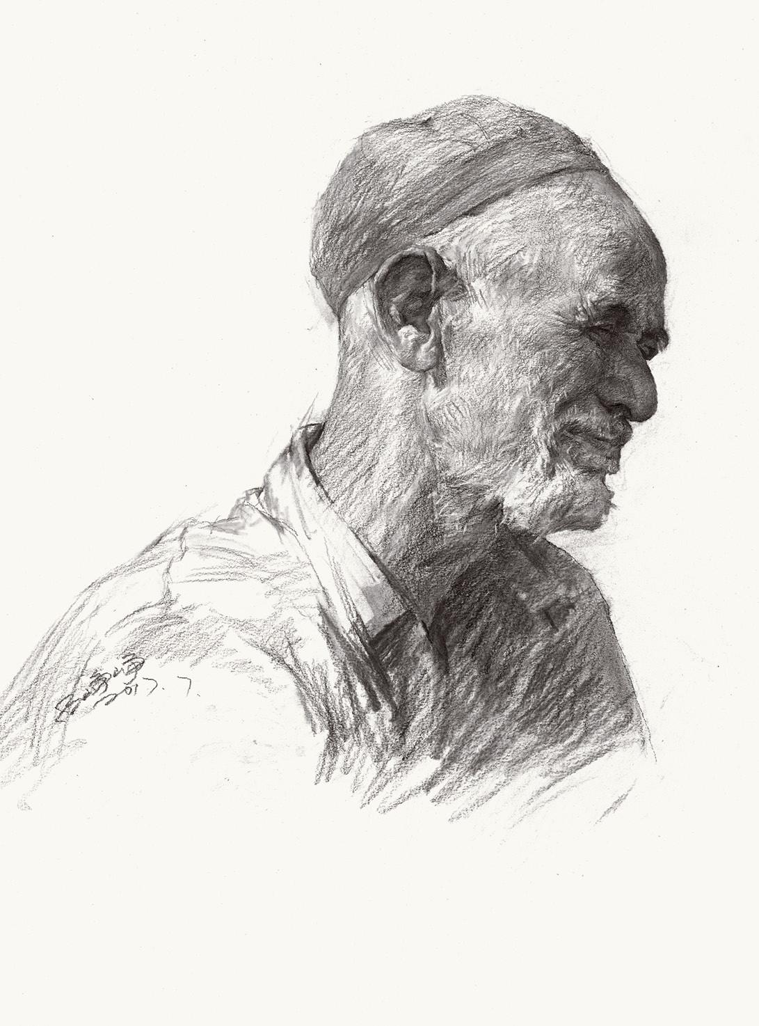 2017峥峥素描2 吕峥峥素描头像精选 素描头像临摹 范画对照