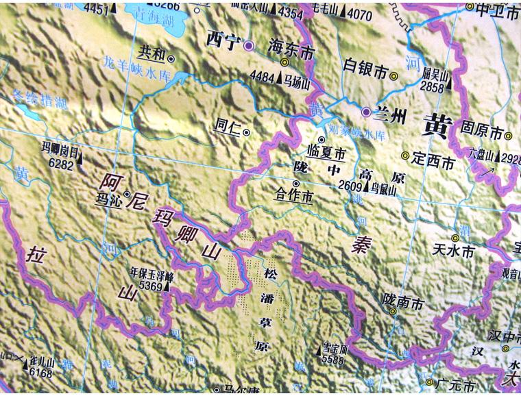 9米x1.2米中国地形图地图挂图高档正版商务办公中国知识地图南海一体
