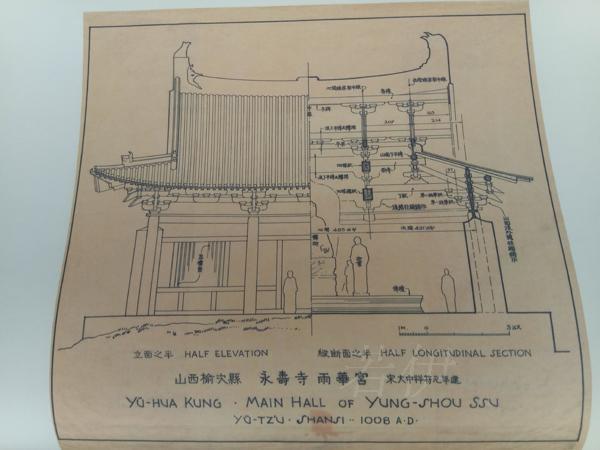 现货正版 图像中国建筑史手绘图 线装 中国人自己编写的公正的建筑