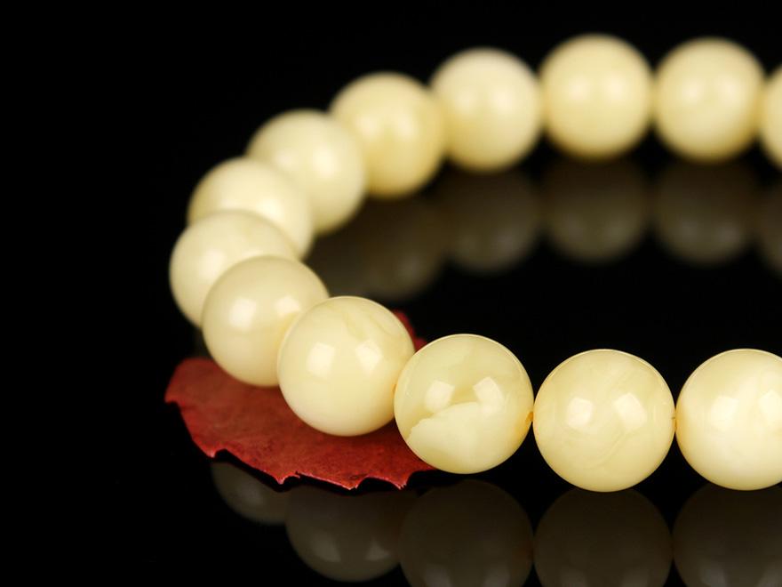 白蜡满蜡无杂无裂无瑕圆珠手串 直径10.5mm