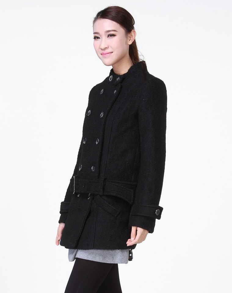 马外套】森马女款呢子便服大衣12095412003原价图片