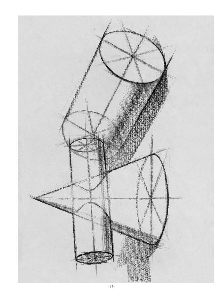 圆柱体横放 六棱柱体横放 六棱柱体竖放 多面球体 圆锥贯穿体-圆柱体