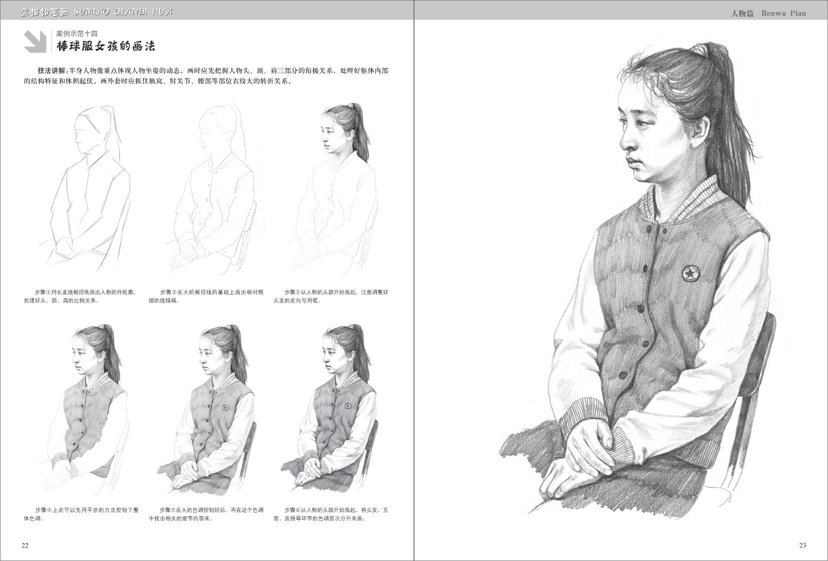 素描铅笔画·人物篇/王庆华