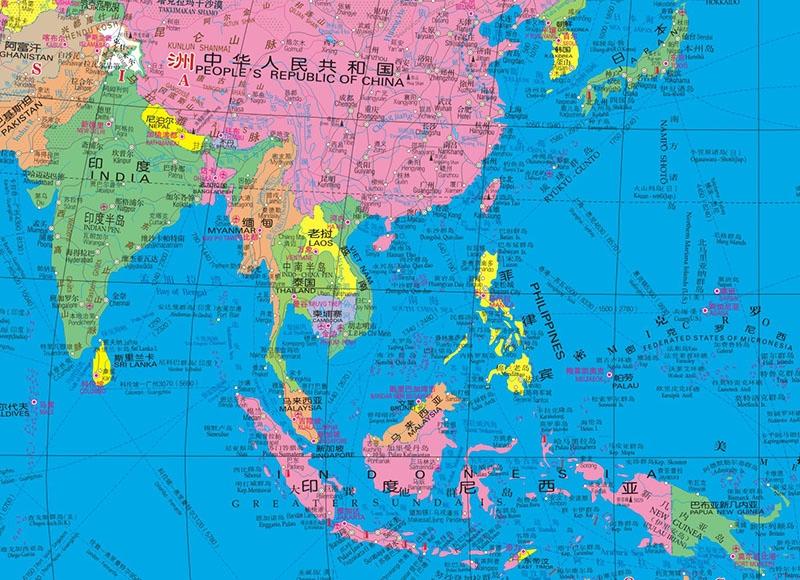 (2017年新版)世界地图(中英文)