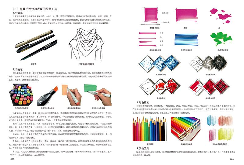 系统地介绍了服装手绘概述,人体的比例,结构和动态,人体局部的表现